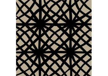 Abstract Criss Cross Lines Black on Tan Print