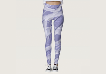 Lavender Abstract Watercolor Leggings
