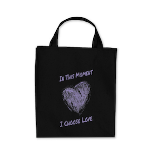 I choose love tote bag300